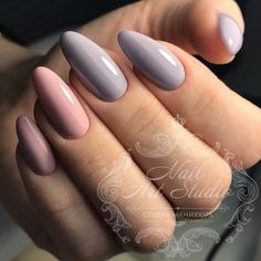 pastel nails, almond shaped nails