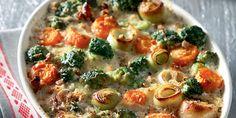 Γκρατέν με τα λαχανικά που περίσσεψαν Vegetable Pizza, Vegetables, Food, Essen, Vegetable Recipes, Meals, Yemek, Veggies, Eten