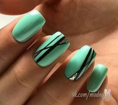 99 Latest Nail Art Colors and Style for Summer - Nails C Manicure Nail Designs, Acrylic Nail Designs, Nail Manicure, Nail Art Designs, Acrylic Nails, Nails Design, Manicure Ideas, Nail Ideas, Teal Nails