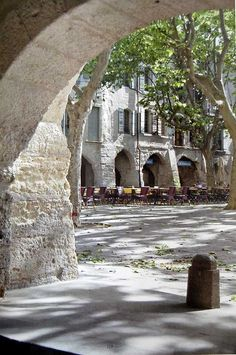 Uzes, France. Golden buidings sweet boutiques, Cafe's, just a delightful place to spend a few days.
