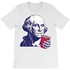 402161613 Custom George Washington Celebrating Of July T-shirt By Tshiart - Artistshot