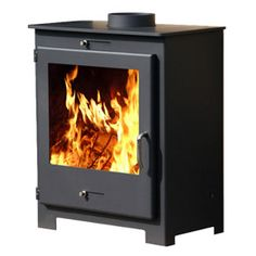 POD Stoves - POD Seventeen    The Pod Seventeen has a steel body giving a maximum of 18kw of heat with a nominal output of 11kw. A contemporary design with a large ceramic glass giving an excellent view of the fire, the stove is beautifully styled. The stove is available in matt mid-grey. Internally it's fully lined with firebricks.