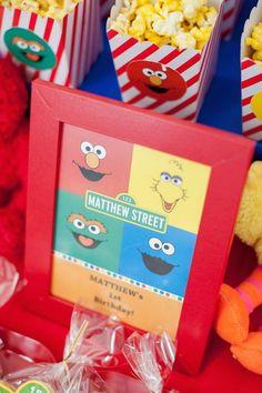 sesame street first birthday party supplies | Sesame Street themed 1st birthday party via Kara's Party Ideas ...