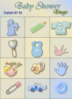 Bingo Baby Shower, Juegos Baby Shower Niño, Mesas Para Baby Shower, Baby Shower Themes, Baby Shower Gifts, Moldes Para Baby Shower, Baby Shawer, Baby Games, Baby Scrapbook