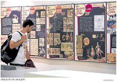 """Exposición """"El Quijote en el cómic"""" en la Biblioteca de Humanidades María Moliner  Del 18 de octubre al 16 de diciembre de 2016."""