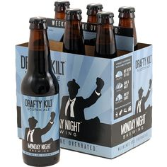 Monday Night Drafty Kilt - Available Year Round. Winner of the 2014 World Beer Cup bronze medal for Scotch Ales! Drafty Kilt is a dark, malty bombshell of a beer.