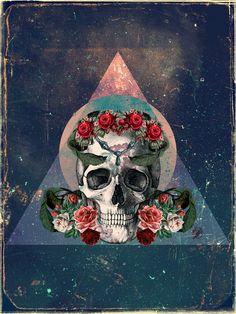 Skull & roses..
