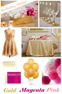 gold pink