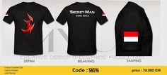 Kaos Secret Man Minat hubungi WA : 085725803753 (minda)