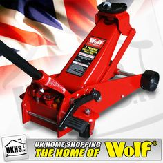 Heavy Duty Quick Lift 3 Ton Hydraulic Garage Jack  is the ideal tools for professionals and serious car enthusiast.  This jack is manufactured from steel and has the Wolf 3 Ton quick lift facility which has been designed to be durable to meet the requirements of everyday use.
