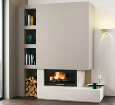 Fireplaces and stoves - Palazzetti Fireplace Console, Living Room Decor Fireplace, Home Fireplace, Fireplace Remodel, Modern Fireplace, Fireplace Design, Living Room Sofa, Home Living Room, Fireplaces