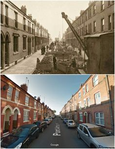 Port Arthur Road Sneinton 1933 and 2016 Nottingham City, Port Arthur, Old Pictures, Family History, Robin, The Past, Street View, Memories, London