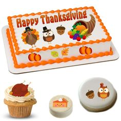 Cake Stickers | Thanksgiving Cake Stickers |Thanksgiving Cake Topper | Thanksgiving Cake | Thanksgiving Cupcakes | Thanksgiving Cookies | Thanksgiving Oreos | Thanksgiving Brownie | Thanksgiving Party Supply | Kawaii Cake | Kawaii Thanksgiving Thanksgiving Cupcakes, Thanksgiving Parties, Happy Thanksgiving, Cake Sizes, Cooking Turkey, Oreos, Corn Syrup, Cake Toppers, Party Supplies