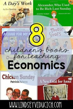 Here are 8 children's books that make economics come to life (and teach some important character skills, too!) Perfect for your kindergarten, first grade, or second grade classroom.