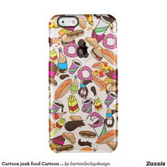 Funny Cartoon junk food Cartoon pattern Uncommon Clearly™ Deflector iPhone 6 Case