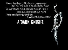 from the words of commissioner Gordon.
