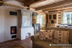 Ateliér Gabryš - Kamna Western Homes, Mountain Homes, Rustic, Stoves, Home Decor, Home, Atelier, Mountain Houses, Country Primitive
