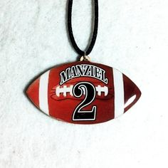 Personalized Football Necklace $12.00.