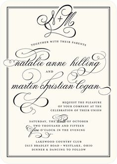Pleasant Match - Signature Custom Wedding Invitations - Sarah Hawkins Designs - Pearl - White : Front