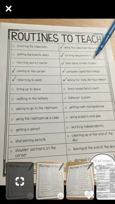 Routines/procedures to teach (elementary example) Routines/procedures to teach (elementary example) The post Routines/procedures to teach (elementary example) appeared first on School Diy. 1st Day Of School, Beginning Of School, School Teacher, First Grade Classroom, New Classroom, Classroom Ideas, Year 1 Classroom Layout, Kindergarten Classroom Layout, Classroom Checklist