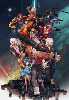 KOG Games and A.Storm have entered into a partnership to bring isometric MMO HeroWarz to western audiences. HeroWarz, a popular Korean MMO, is expected to launch in 2016 in the west. Game Character, Character Design, Character Ideas, Japan Games, Cool Robots, Scenery Wallpaper, Video Game Art, Manga Games, Caricature