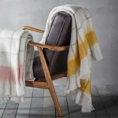 Update your home with this luxurious mohair feel throw from Gallery Direct. This super soft mohair feel throw features an oversized check pattern with solid och. Mohair Throw, Luxury Throws, Warm Blankets, Bed Covers, Luxury Interior, Soft Furnishings, Girl Room, Snug, Home Accessories