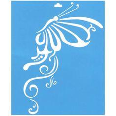 Stencil de mariposas