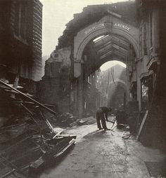 The remains of Burlington Arcade, London, England, United Kingdom, 1940, photograph by Lee Miller.