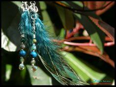 piume di pavone blu