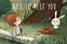 Forest Romance on Behance Kawaii Illustration, Forest Illustration, Children's Book Illustration, Character Illustration, Children's Book Characters, Cartoon Background, Affinity Designer, Environment Concept Art, Character Design Inspiration