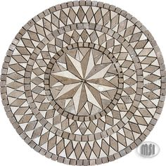 """36"""" natural stone medallion mosaic tiles by MSI Stone"""