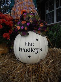 Family Name Last Name Pumpkin Decorating by customvinylbydesign, $6.50
