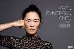 Huf Magazine, Choreographer / Dancer Wang Ramirez: Honji Wang, Styling: Soo-Hi Song, Concept & Idea: Honji & Sebastien, Hair & Makeup: Jazz Mang, Photo: Filine Fink, shiny makeup, nude lips, asian, korean, eyebrows, leo print, www.basics-berlin.de