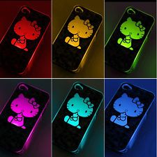 Cute Hello Kitty LED Case Cover For iPhone 4 4S Flash light Colors Change Twink