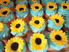 sunflower cupcakes by slice custom cakes
