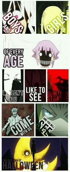 This AMV change my life: it brings me to Soul Eater and than my Anime/Otaku-Time starts. :) It's amazing. The AMV Soul Eater- This is Halloween is really creepy. The anime, Soul Eater, is not creepy.or not really creepy. Manga Anime, Got Anime, I Love Anime, Awesome Anime, Anime Soul, Anime Life, Otaku, Death Note, Mememe Anime