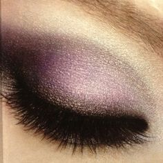 purple smokey eye and lashes! This would be pretty for the wedding I am in next weekend.