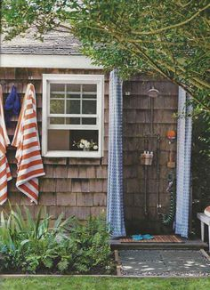 diy-outside-shower-16 - click through for several other good ideas!