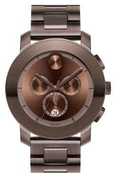 Movado | 'Large Bold Chronograph' Bracelet Watch #movado #watch