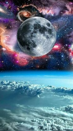 Universum - New Sites Night Sky Wallpaper, Wallpaper Space, Nature Wallpaper, Wallpaper Backgrounds, Planets Wallpaper, Galaxy Wallpaper, Space Artwork, Space And Astronomy, Beautiful Moon