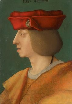 Unknown South German painter: Portrait in profile of Emperor Ferdinand I. (1503-1564), Kunsthistorisches Museum Wien, Gemäldegalerie