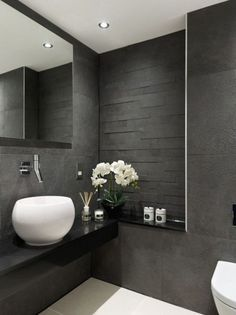 Is your home in need of a bathroom remodel? Give your bathroom design a boost with a little planning and our inspirational 65 Most Popular Small Bathroom Remodel Ideas on a Budget in 2018 Grey Bathroom Interior, Grey Bathrooms, Beautiful Bathrooms, Small Bathroom, Bathroom Ideas, Master Bathroom, Luxury Bathrooms, Bathrooms Suites, Bath Ideas
