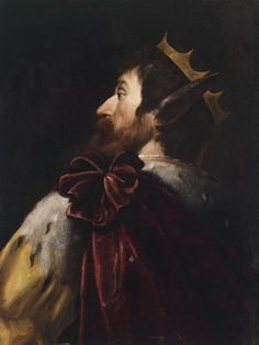 """""""King Midas"""" by Andrea Vaccaro Baroque period painting Here we see Midas with the donkey ears that Apollo cursed him with. Toulouse, Ancient History, Art History, Paintings Tumblr, King Midas, Anthony Van Dyck, History Encyclopedia, Baroque Painting, Italian Painters"""