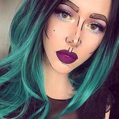 Si no te gusta disfrazarte de cosas terroríficas en #halloween te damos algunas ideas #cartoon #makeup #costume