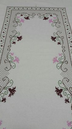 "Burcinnnnn ""This post was discovered by Esr"" Cross Stitch Heart, Cross Stitch Borders, Cross Stitch Designs, Cross Stitching, Cross Stitch Embroidery, Hand Embroidery, Machine Embroidery, Embroidery Patterns Free, Easy Crochet Patterns"