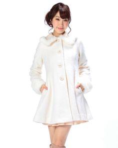 レース襟Aラインコート|渋谷109で人気のガーリーファッション リズリサ公式通販