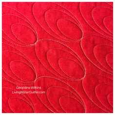 Geraldine Wilkins,Living Water Quilter- Quilting with  nested ovals on a Juki 2200 mini domestic machine