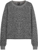 McQ by Alexander McQueen Leopard-intarsia stretch-knit sweater