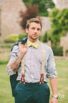 INSPIRAÇÃO: 20 noivos estilosos usando suspensório | Casar é um barato - Blog de casamento