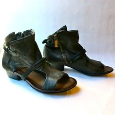 A.S. 98 Lexa Sandal Bootie in smoke leather – burnt sugar